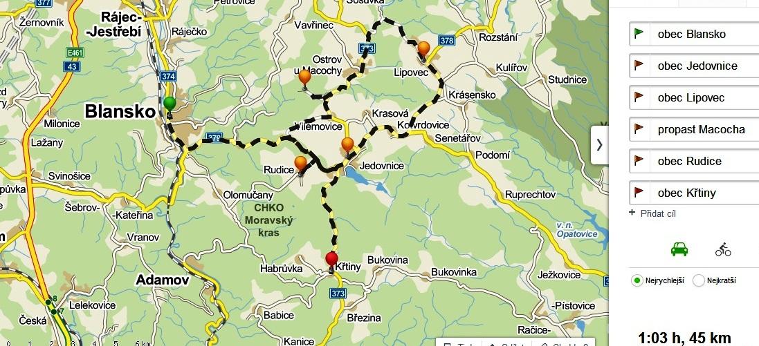 1. trasa - mapa finale